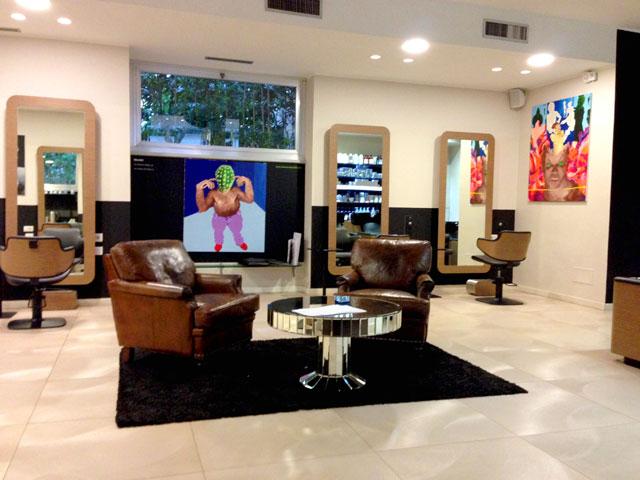 Davines salone rubertelli milano mostra di pittura for Pittura salone