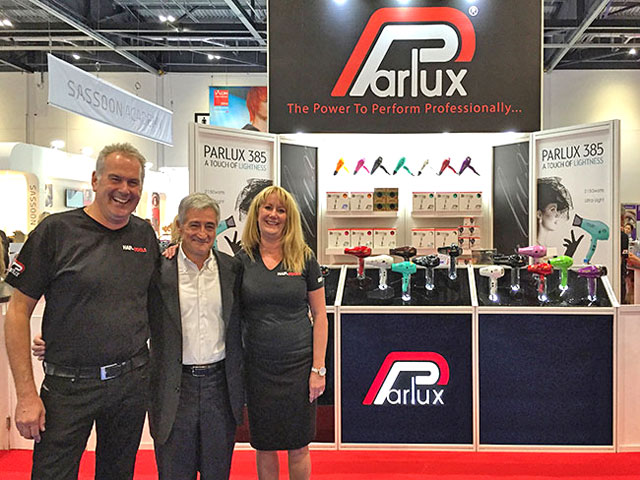 Mr.  Paolo Parodi, Parlux CEO, together with Mr. & Mrs. Brunton of Hair Tools