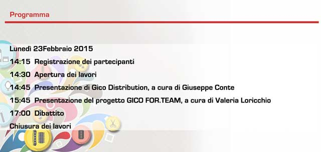 GICO FOR.TEAM - PROGRAMMA